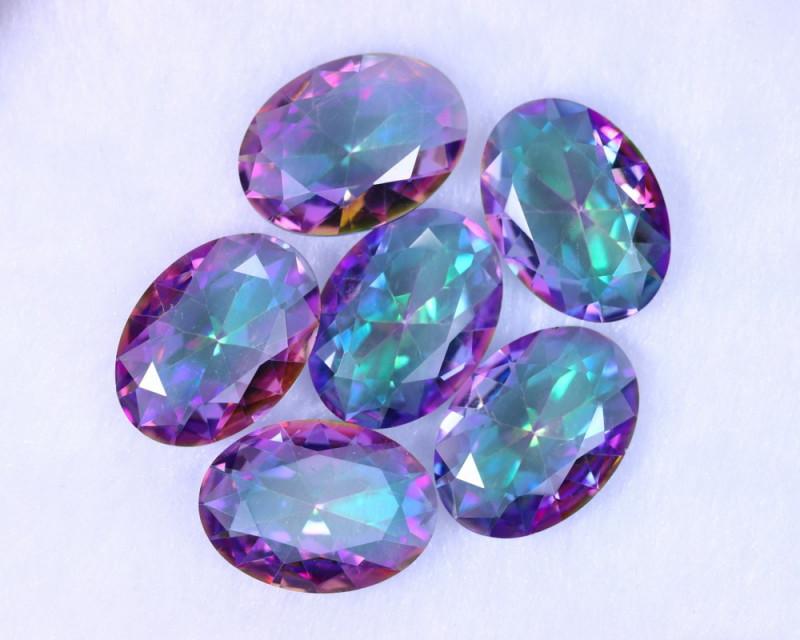 43.66cts Natural Rainbow Mystic Topaz Loose Stone Lots / MA1192