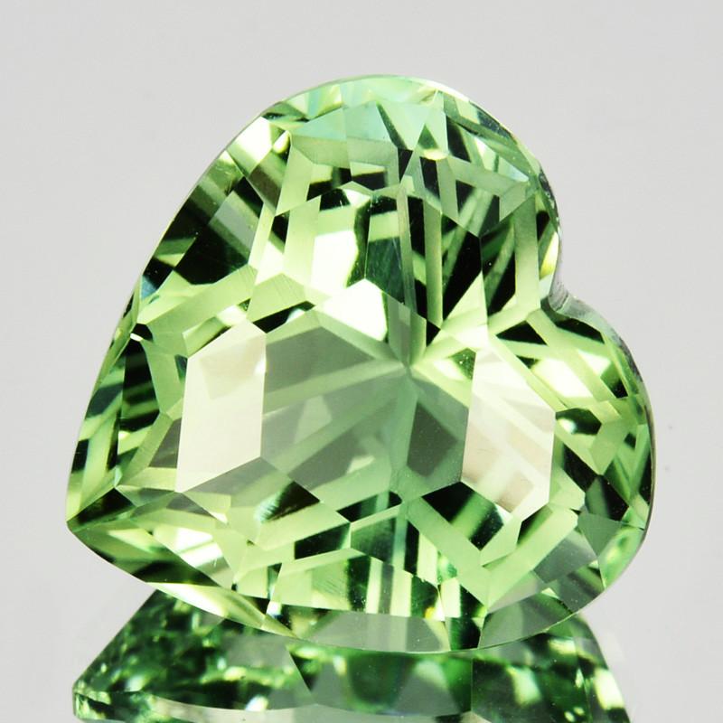 ~CUSTOM CUT~ 6.24 Cts Natural Prasiolite / Amethyst Fancy Heart Brazil