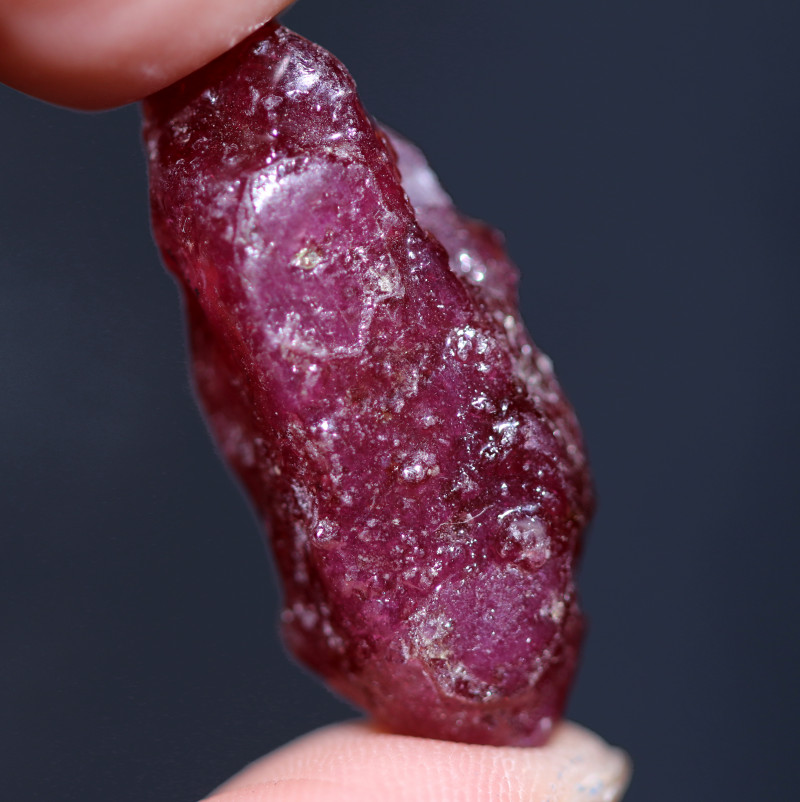 35.59 CTS DRILLED  RUBY ROUGH  MADAGASCAR  -TREATED  [MGW8123]