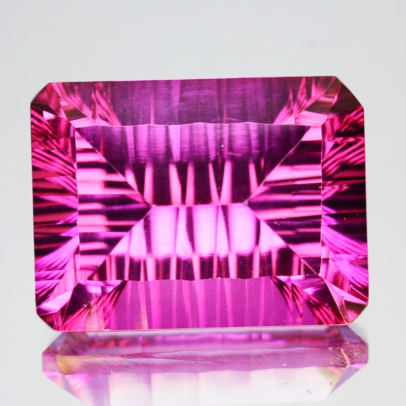 ~CONCAVE CUT~ 7.14 Cts Candy Pink Natural Topaz 12 X 10mm Octagon Brazil