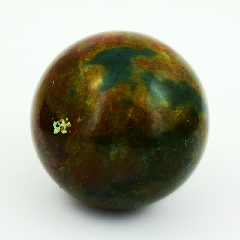 Genuine 630.00 Cts Bloodstone  Healing Ball Hand Carved Carving