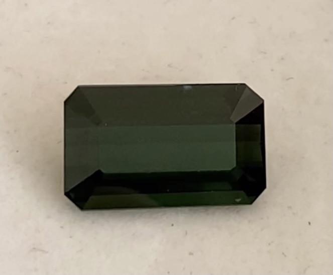 Pretty Deep Green Emerald Cut Quality Tourmaline  - Brazil KR147