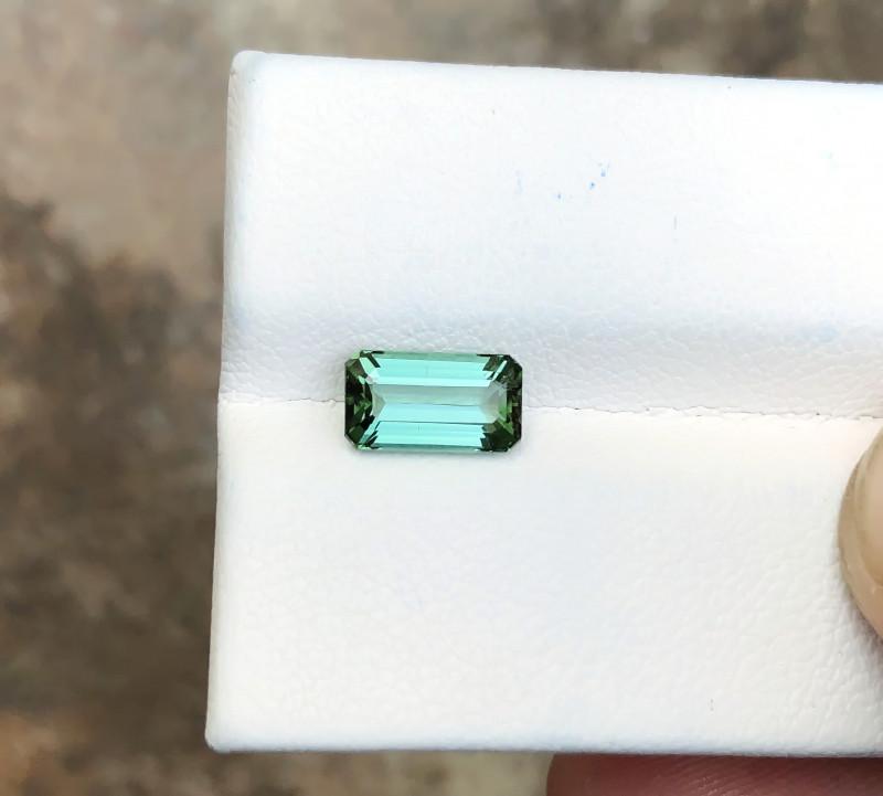 1.30 Ct Natural Greenish Blue Transparent Tourmaline Ring Size Gemstone