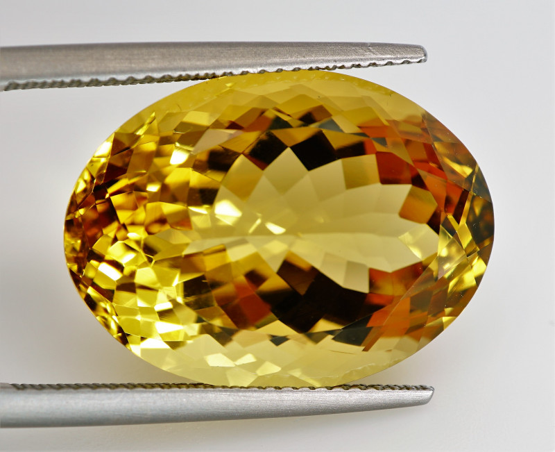 21.16 ct. 100% Natural Top Yellow Golden Citrine Unheated -IGE Certificat