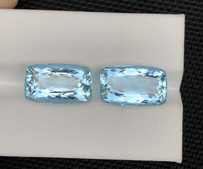 15.42 Carats Brazilian pair Natural Aquamarine Gemstones