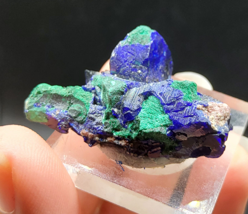 moroccan azurite-malachite specimen