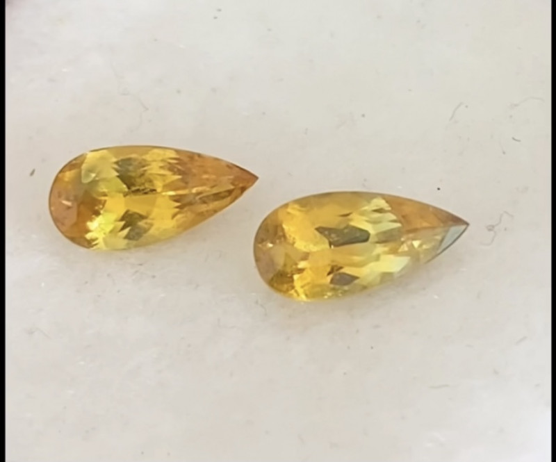 Pretty Pair of Australian Yellow Sapphires -KR151