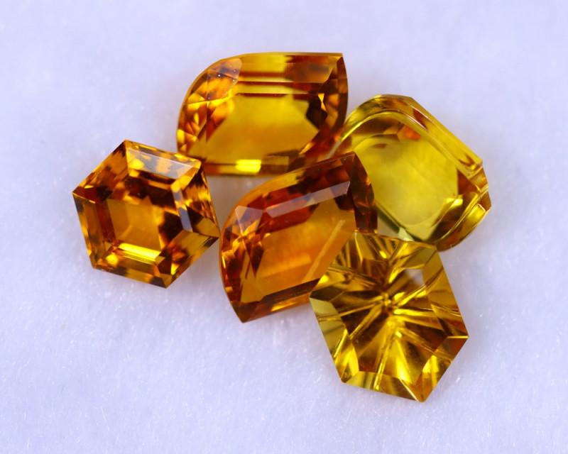 Designer Cut 13.56cts Natural Orangish Yellow Citrine Lots / MA1289
