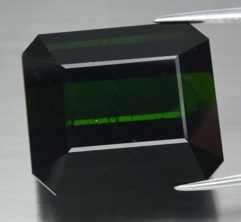 Huge Rare! 31.47 ct Natural Earth Mined Unheated  Green Tourmaline