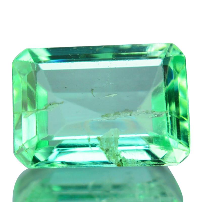 Natural Vivid Green Emerald Octagon Cut Colombia 0.48ct
