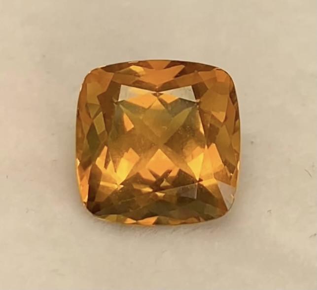Lovely Golden Yellow Cushion Cut Citrine - KR168