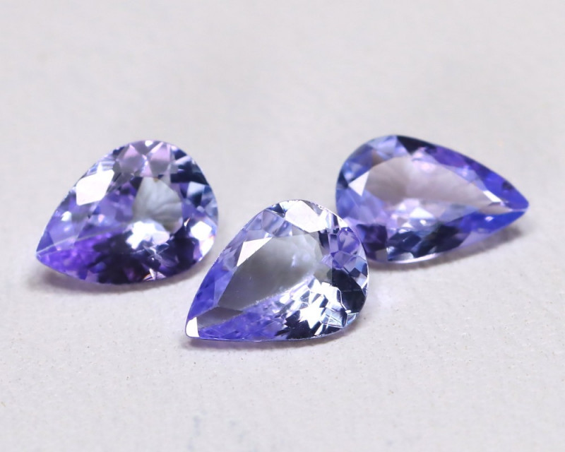 Tanzanite 1.51Ct VS Pear Cut Natural Purplish Blue Tanzanite Lot A0803