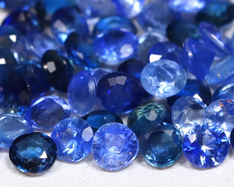 4.53Ct Calibrate 2.3mm Round Natural Blue Color Sapphire Lot B0807