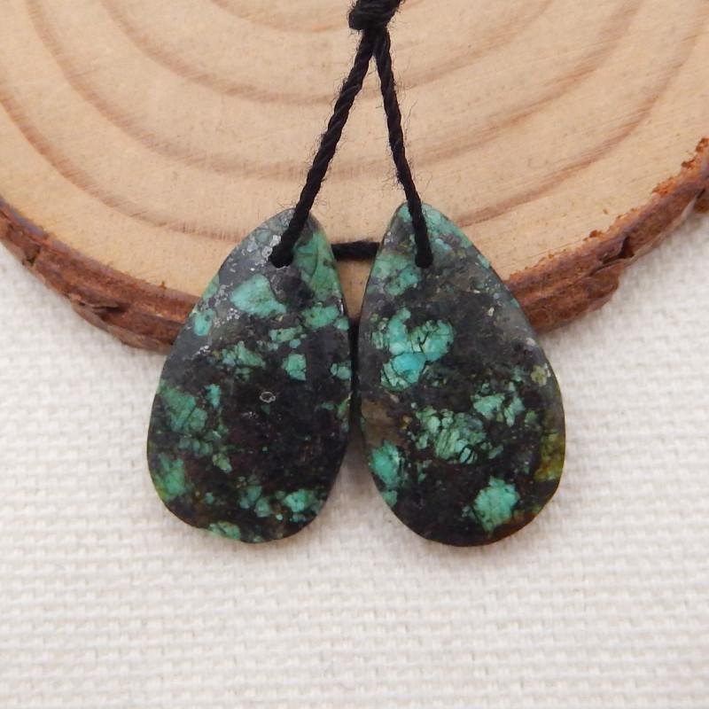 Seckill 18cts African Turquoise Earrings,Handmade Gemstone ,Turquoise Earri