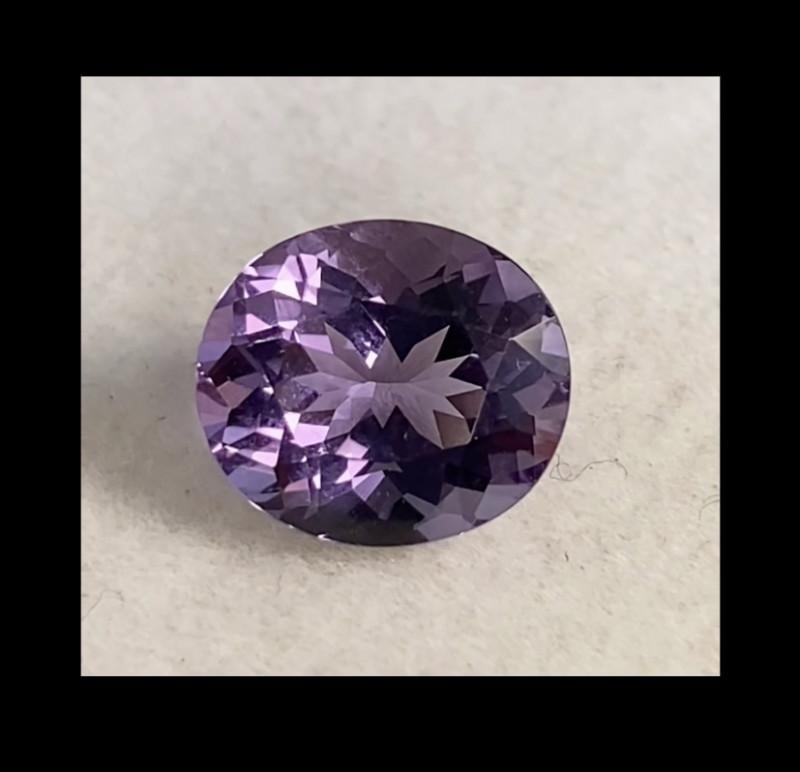 Pretty Pinkish Purple Oval Amethyst - Brazil KR177