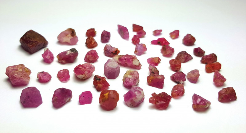 Amazing Natural color gemmy quality Rough Ruby Parcel 50Cts-A