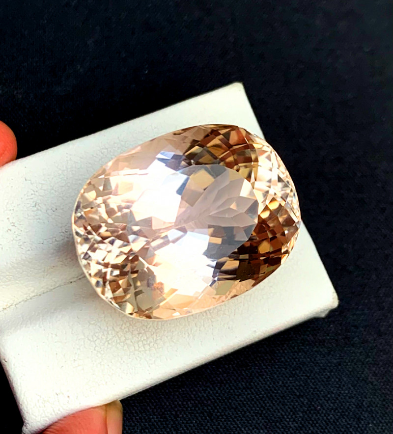 75.50 Carats Natural Peach Pink Color Kunzite Gemstone