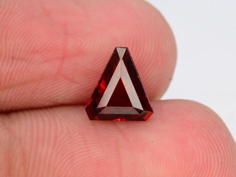 Trillion Cut 1.65 Natural Blood Red Almandite Garnet ! GAD !