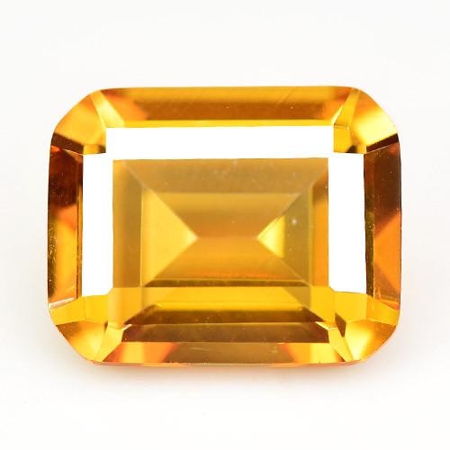 Mystic Quartz 2.86 Cts Rare Fancy Orange Color Natural Gemstone