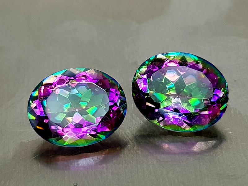 4.75Crt Mystic Quartz Natural Gemstones JI132
