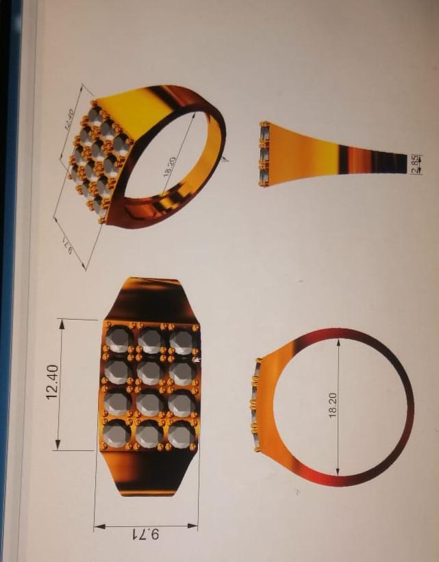 12 pcs(Auction ID 1257105) natural Diamond Ring for tzaman007