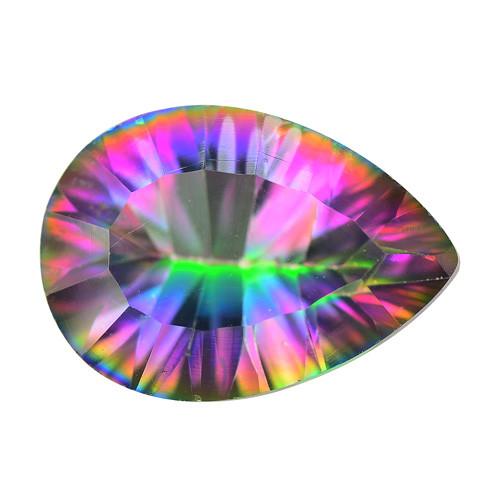 Mystic Quartz 4.46 Cts Rare Fancy Multi Color Natural