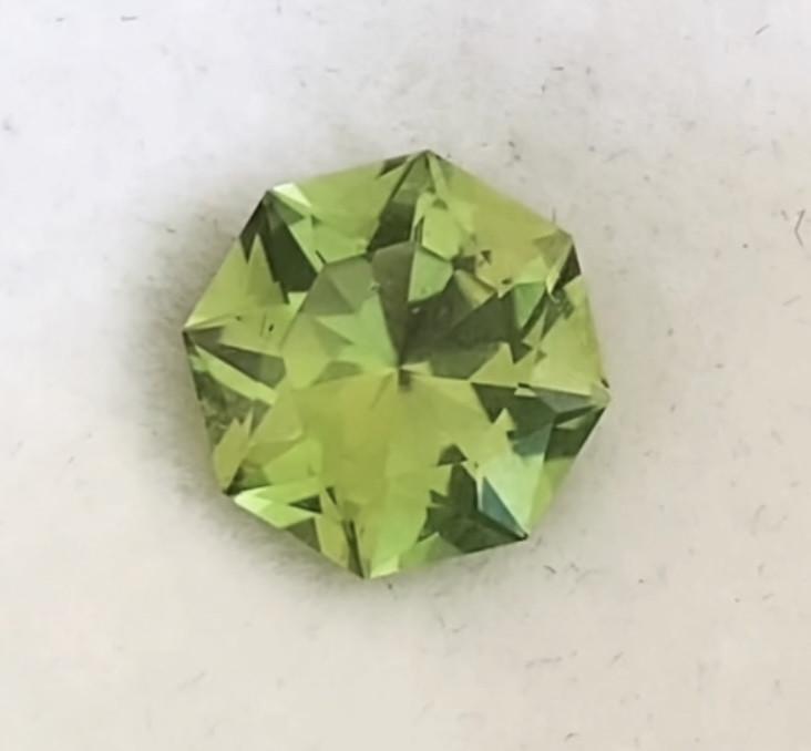 Pretty Bright Green Designer Cut Tourmaline - Congo