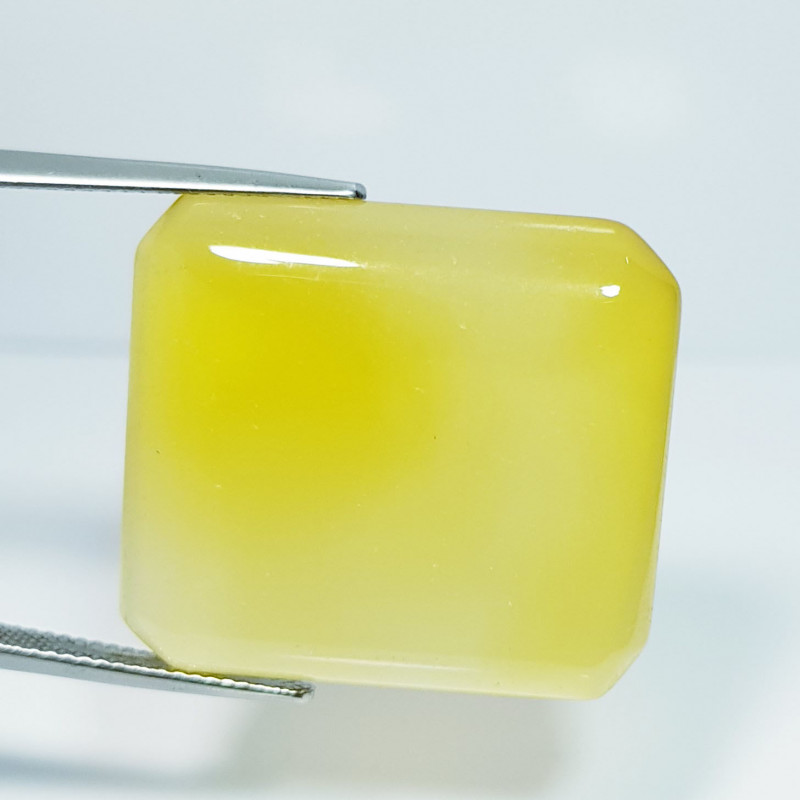 43.80 ct Natural Yellow Agate Cabochon  Gemstone