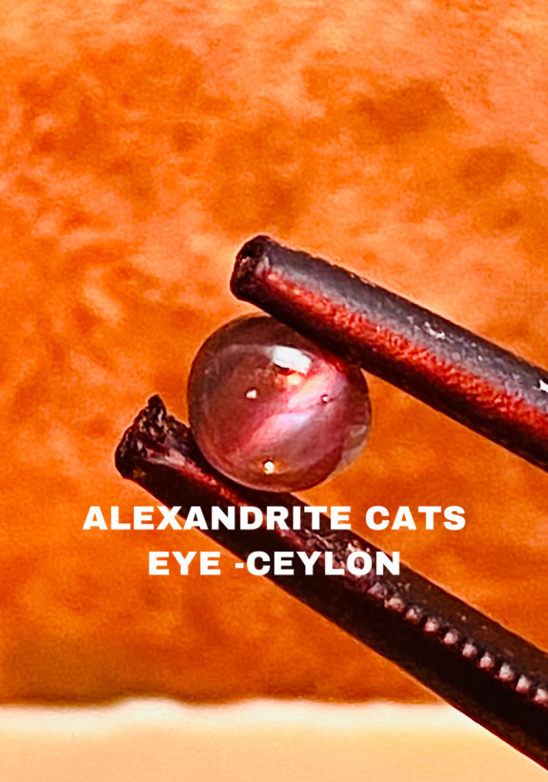 0.46CT -ALEXANDRITE CATS EYE- BEST FROM CEYLON- FROM COLLECTOR