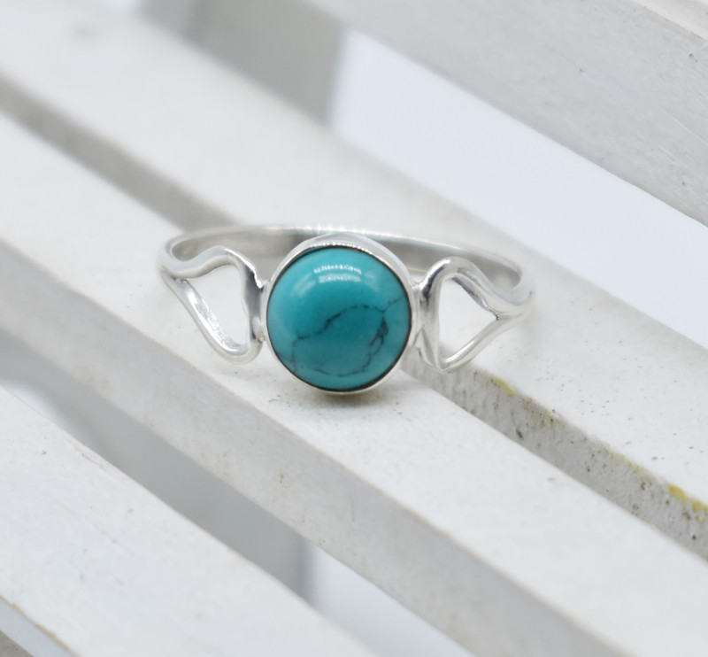 TURQUOUSE RING 925 STERLING SILVER NATURAL GEMSTONE JR1066