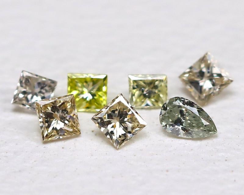 Diamond 0.11Ct Natural Genuine Fancy Color Diamond Lot B676