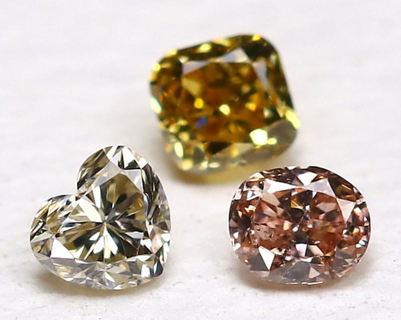 Diamond 0.11Ct Natural Genuine Fancy Color Diamond Lot B678