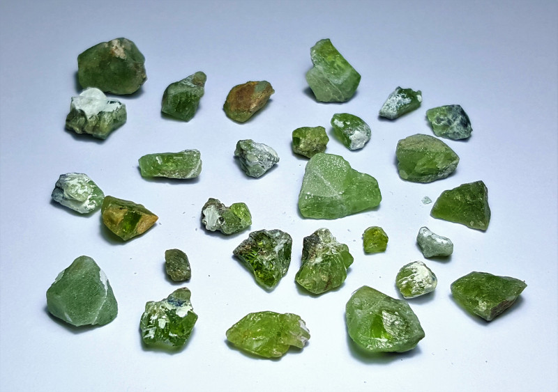 Amazing Natural color Rough  Peridot lot 130Cts-N-H