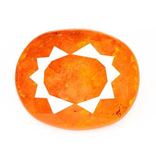 Sphalerite 1.01 Cts Natural Rare Top Rich Fired Sunset Orange Gemstone
