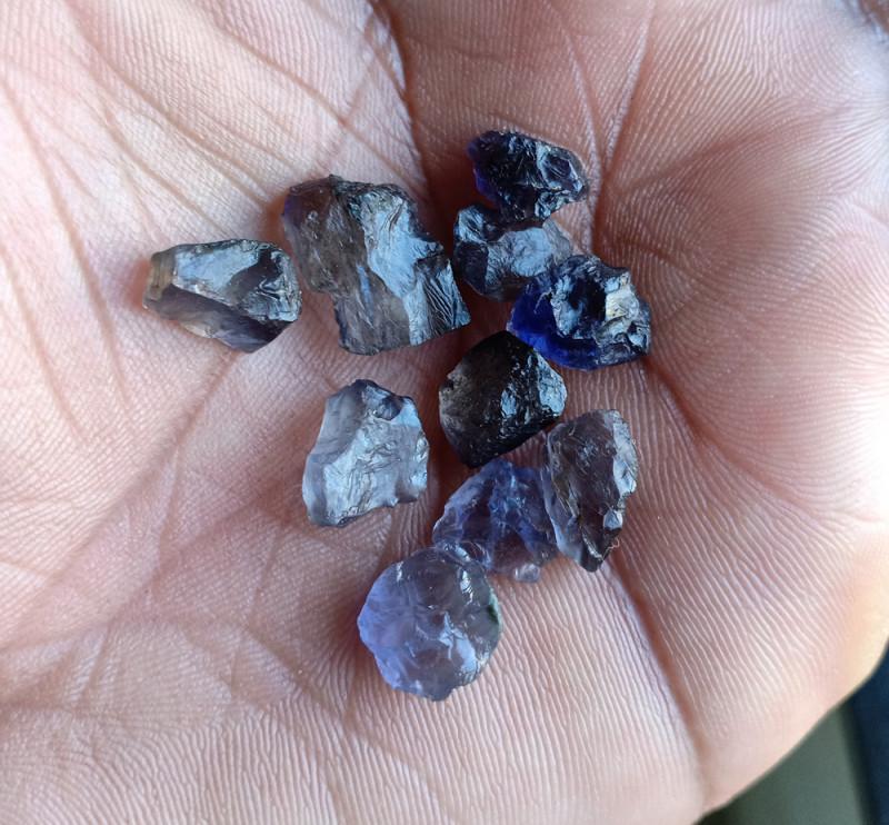 25 Carat iolite Gemstone Wholesale Package Natural Gem VA3909