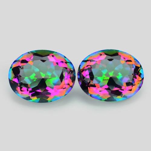 *NoReserve*Mystic Quartz 4.81 Cts 2 Pcs Rare Fancy Aurora Borealis Natural
