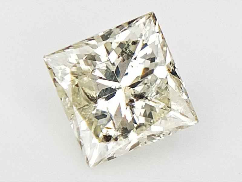 0.18 cts , Princess Cut Diamond , Rare Natural Diamond