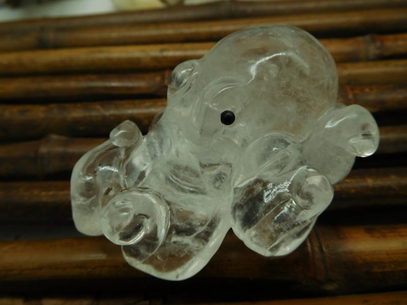 Clear Quartz Carved Octopus (D0279)