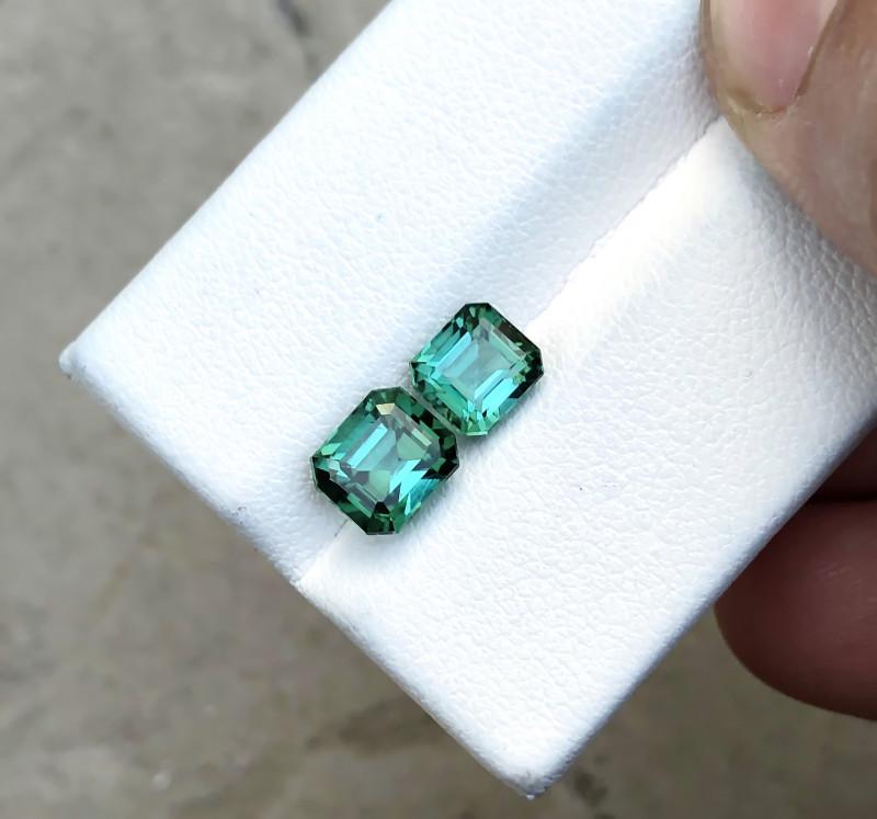 2.35 Ct Natural Blueish Green Transparent Tourmaline Gems Parcels