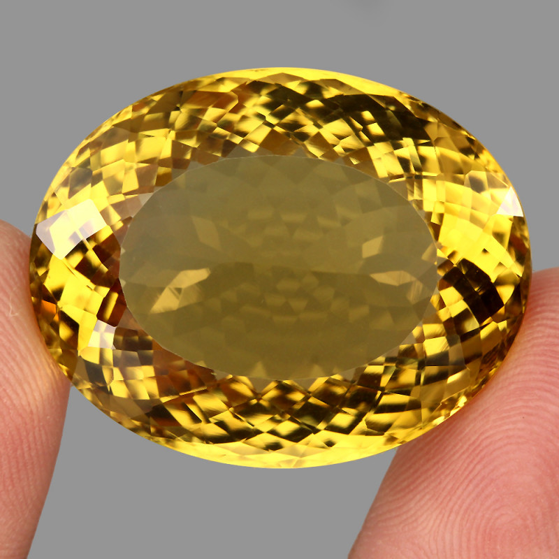 84.89 ct. Natural Earth Mined Top Quality Rich Yellow Citrine Brazil