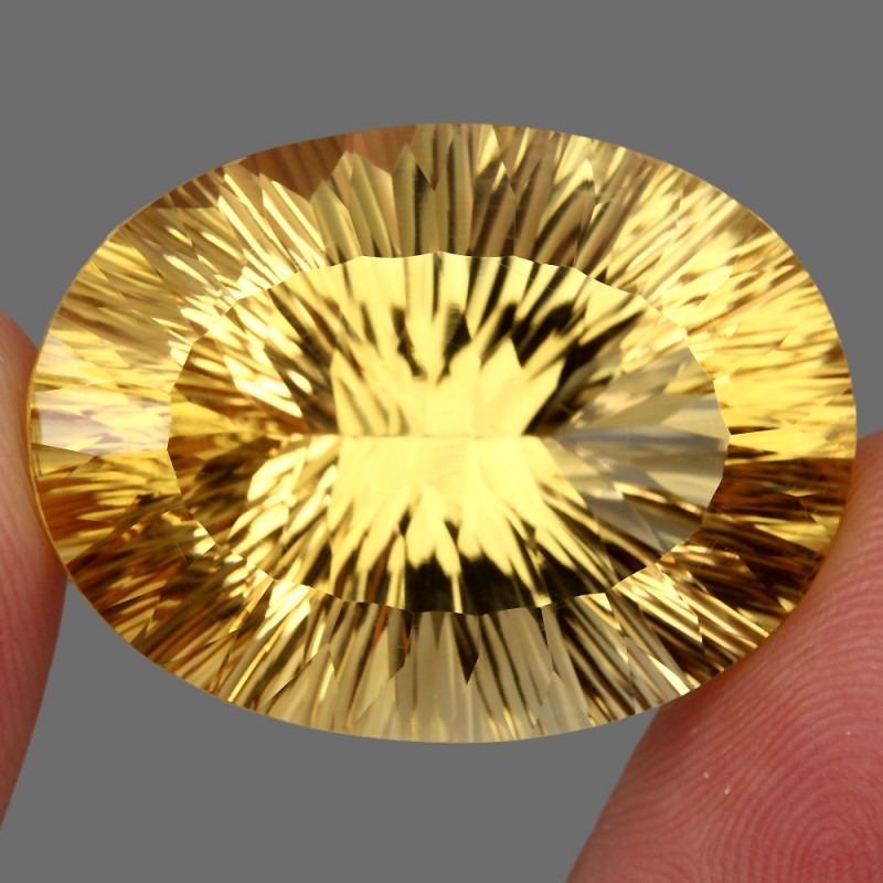 Very Clean 65.24 ct. Natural Earth Mined Top Quality Rich Yellow Citrine Br