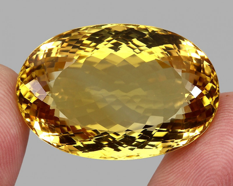 Very Clean 90.28  ct. Natural Earth Mined Top Quality Rich Yellow Citrine