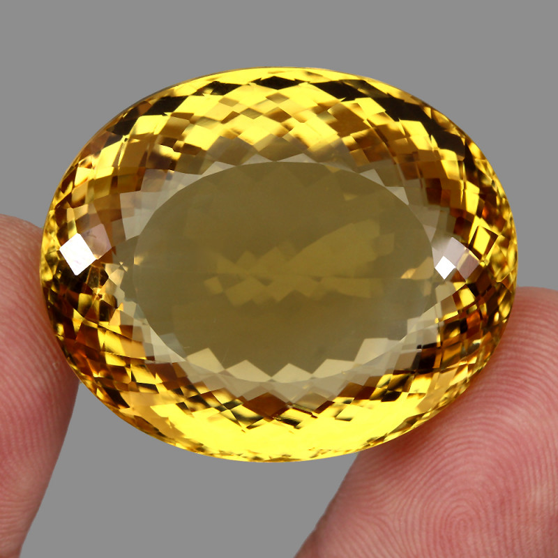 Museum Size Very Clean 136.30 ct. Natural Earth Mined Top Quality  Yellow C
