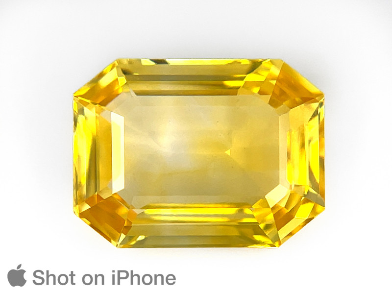 Yellow Sapphire, 8.04ct - Mined in Sri Lanka   Certified by GII