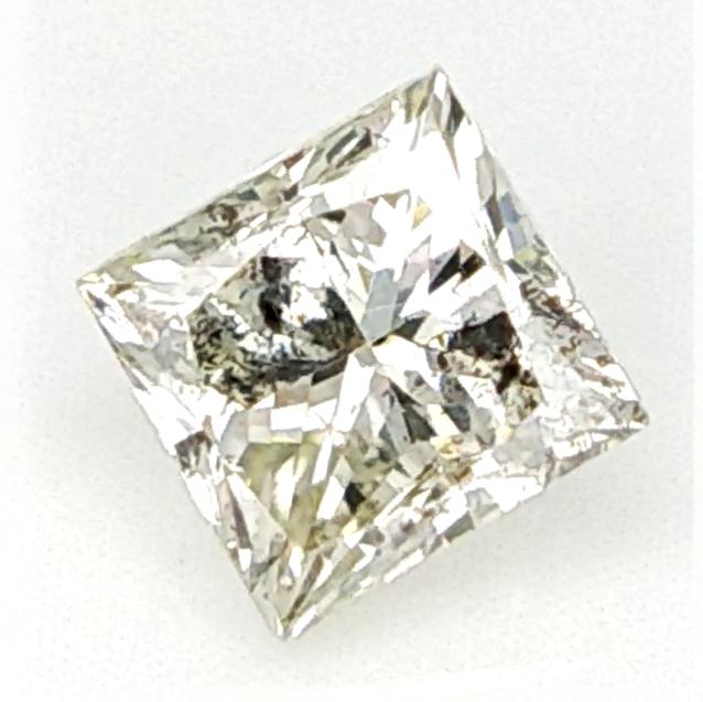0.17 cts ,Princess Cut Diamond , Rare Natural Diamond