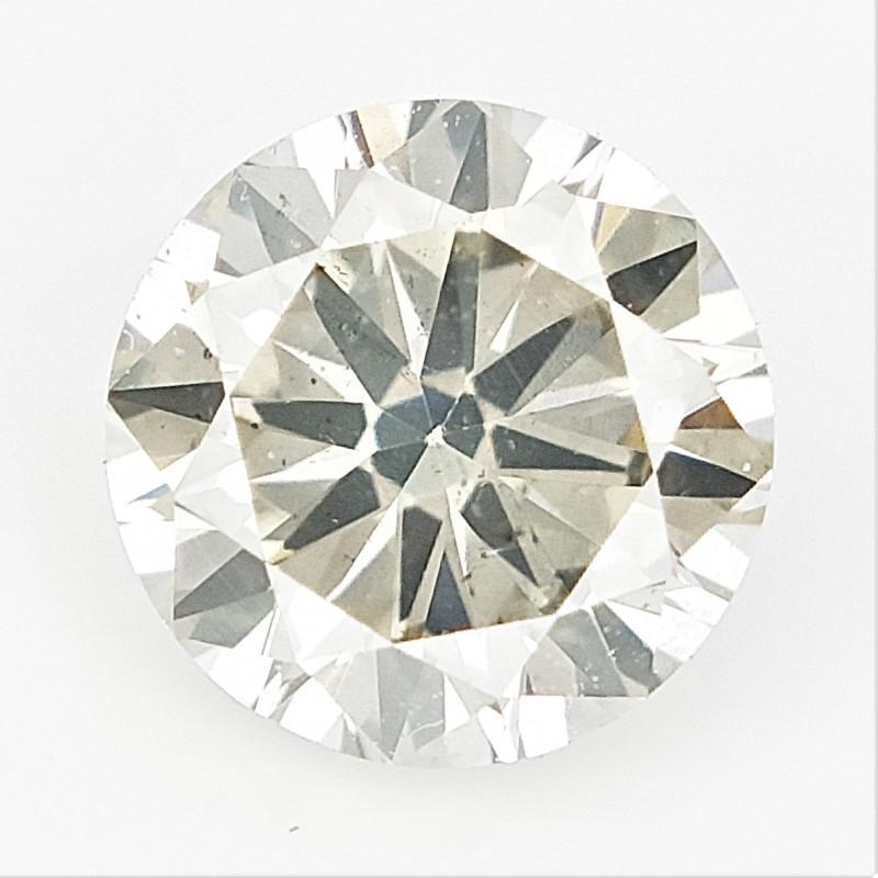 0.51 cts , Round Brilliant Cut , Light Colored Diamond