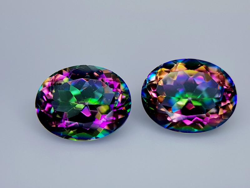 4.85Crt Mystic Quartz Natural Gemstones JI136