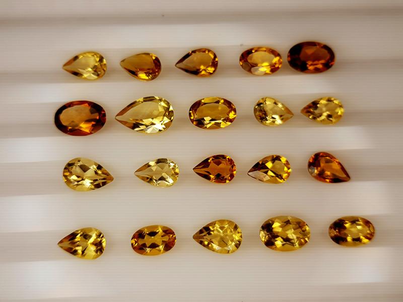 7.75Crt Madeira Citrine Lot Natural Gemstones JI136