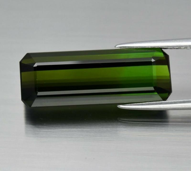 8.17ct 20x7.5mm IF Octagon Natural Unheated Green Tourmaline, Mozambique
