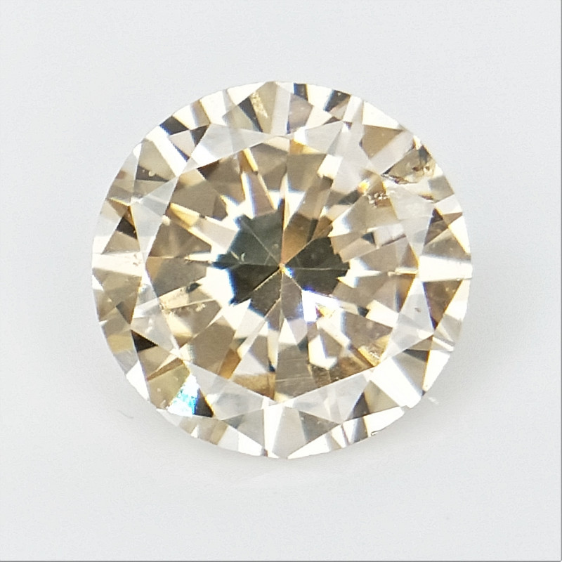 0.35 CTS , Round Brilliant Cut , Light Colored Diamond
